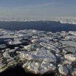 Open sea ice in the Bellingshausen Sea, Antarctica panarama of 3 images