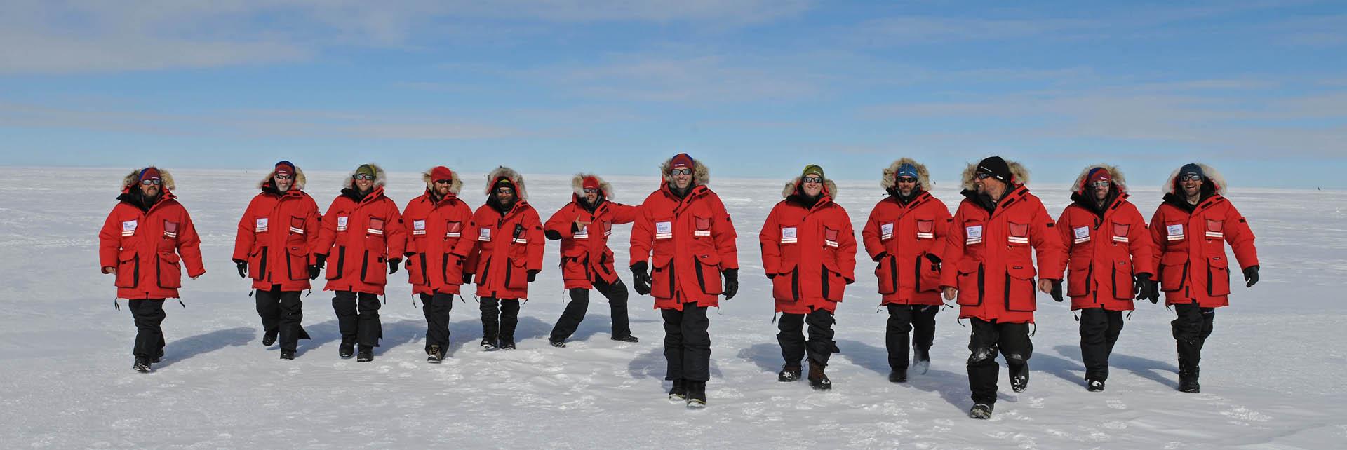 SLE deep field team. canada goose logo antarctica .