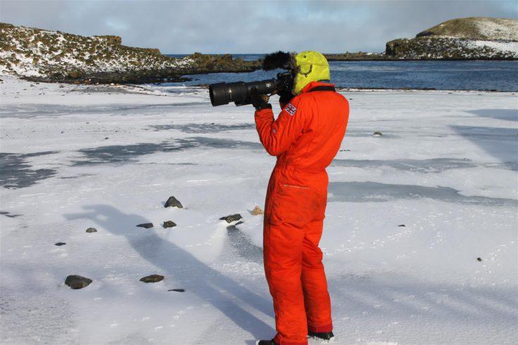 Alastair Wilson taking a photograph