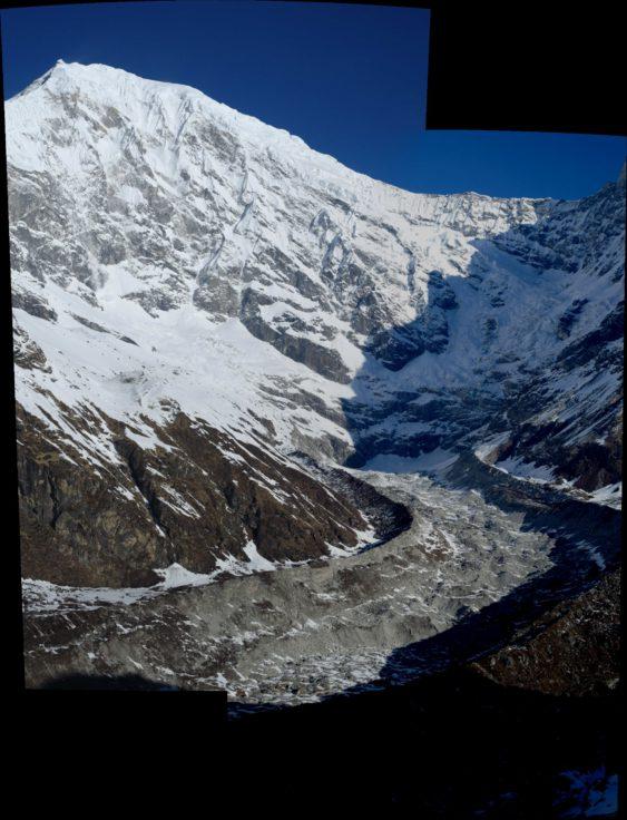 Lirung Glacier and Langtang Lirung (7234 m).