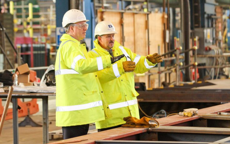 NERC Chief Operating Officer Paul Fox with Cammell Laird Project Director John Drummond