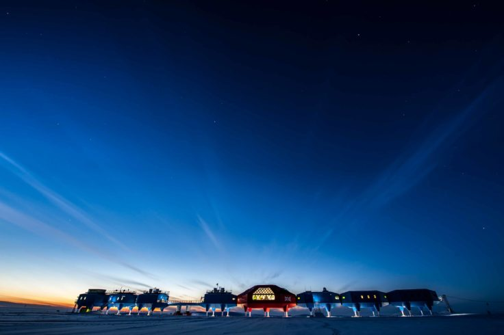 Halley VI Research Station on the Brunt Ice Shelf in Antarctica where successful applicants could be working