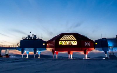 Low sun over Halley VI Research Station