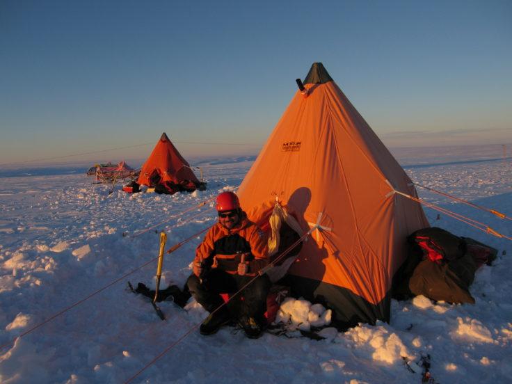 An Antarctic field camp