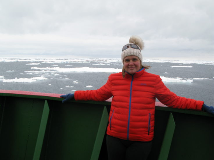 BAS Senior Communications & PR Manager Athena Dinar looks forward to arriving at Halley