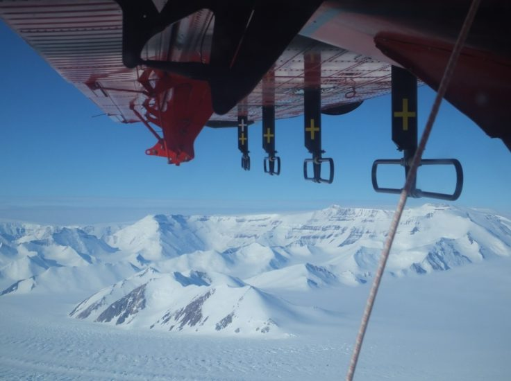 Transantarctic Mountains viewed from the survey aircraft