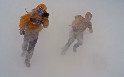 Blowing snow closing in and leading to prolonged 'lie up'