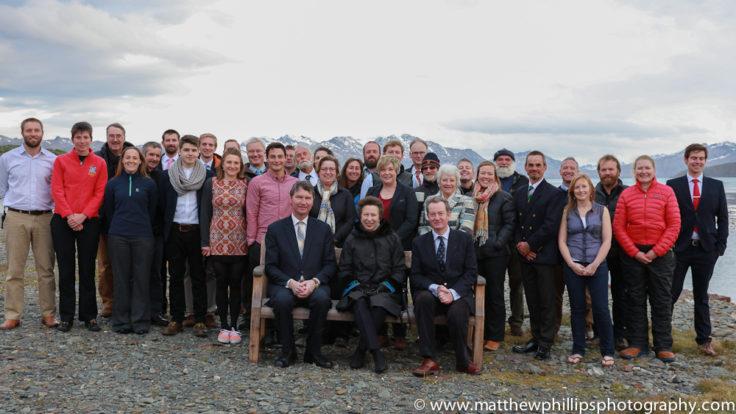 HRH Princess Anne, the patron of South Georgia Heritage Trust visits King Edward Point Research Station