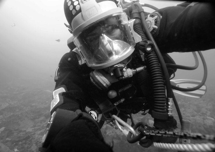 Diver at Rothera