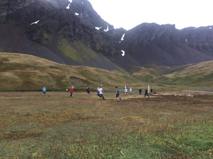 Playing football in South Georgia