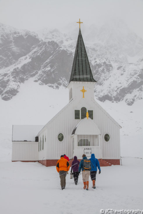 Grytviken Whalers' Church at Christmas, South Georgia