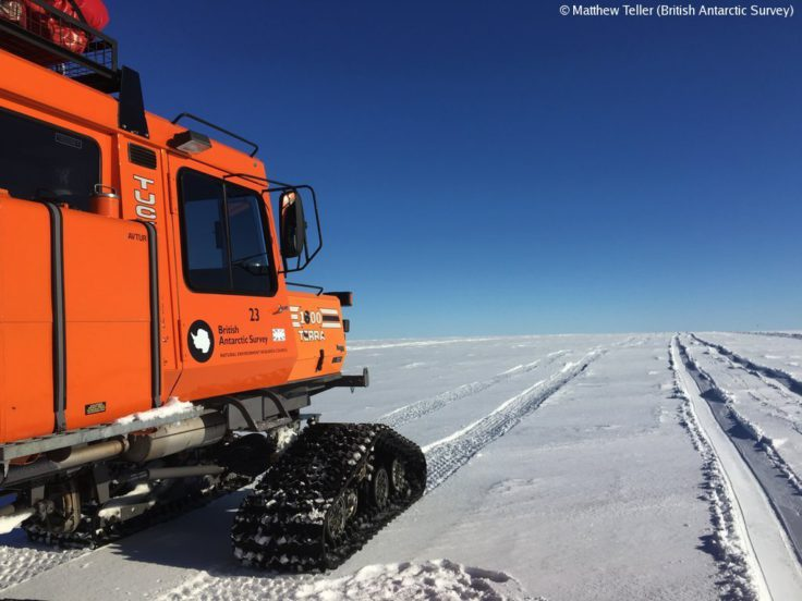 The SnoCat used for the four hour journey from the edge of the Brunt Ice Shelf to Halley Research Station