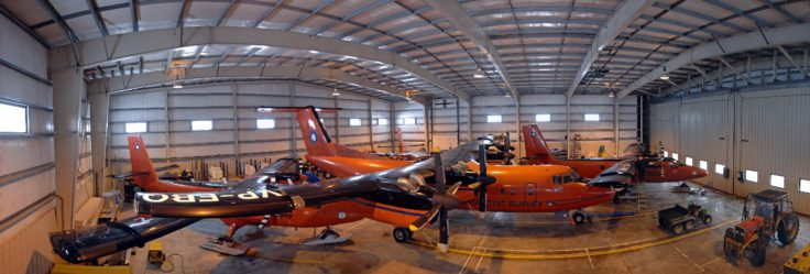 The hangar at Rothera Research Station, Antarctica.