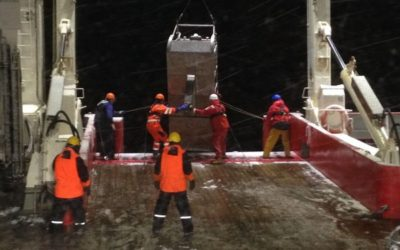 Snowy weather deployment of the Epibenthic Sledge