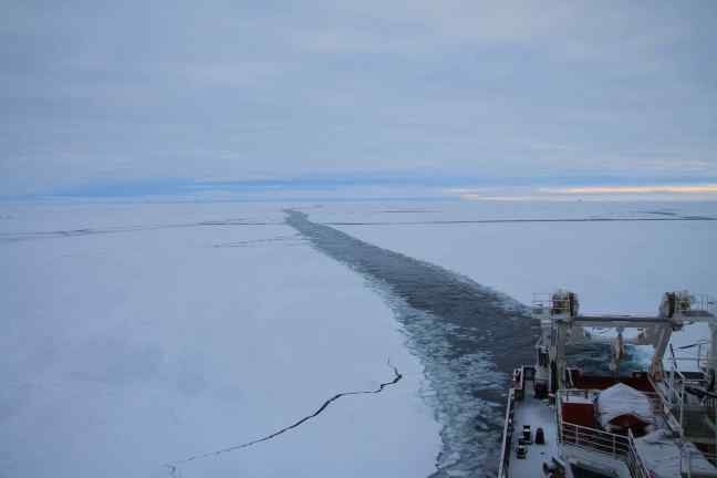 Steaming a path through the sea ice