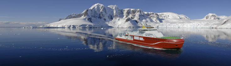RRS Sir David Attenborough, ship visualisation