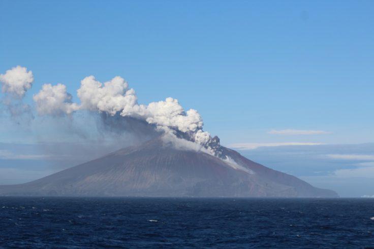 Mt Curry erupting on Zavodovski Island