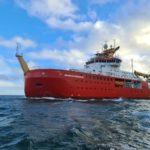 RRS Sir David Attenborough ship at sea