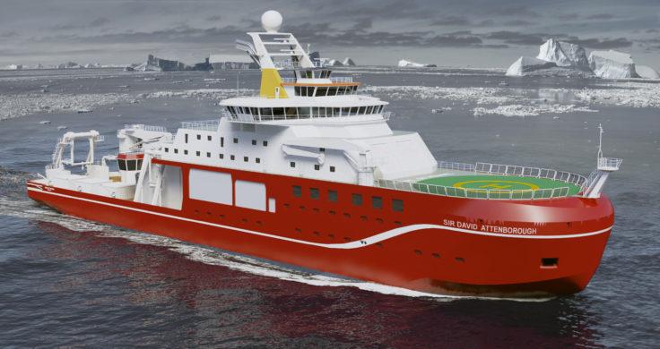 New UK Polar Vessel the RRS Sir David Attenborough