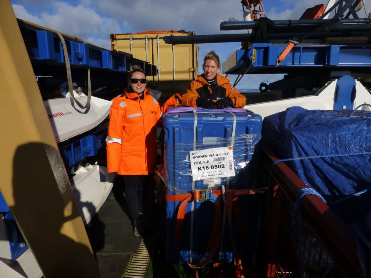 ISOL-ICE science cargo on board the RRS Ernest Shackleton