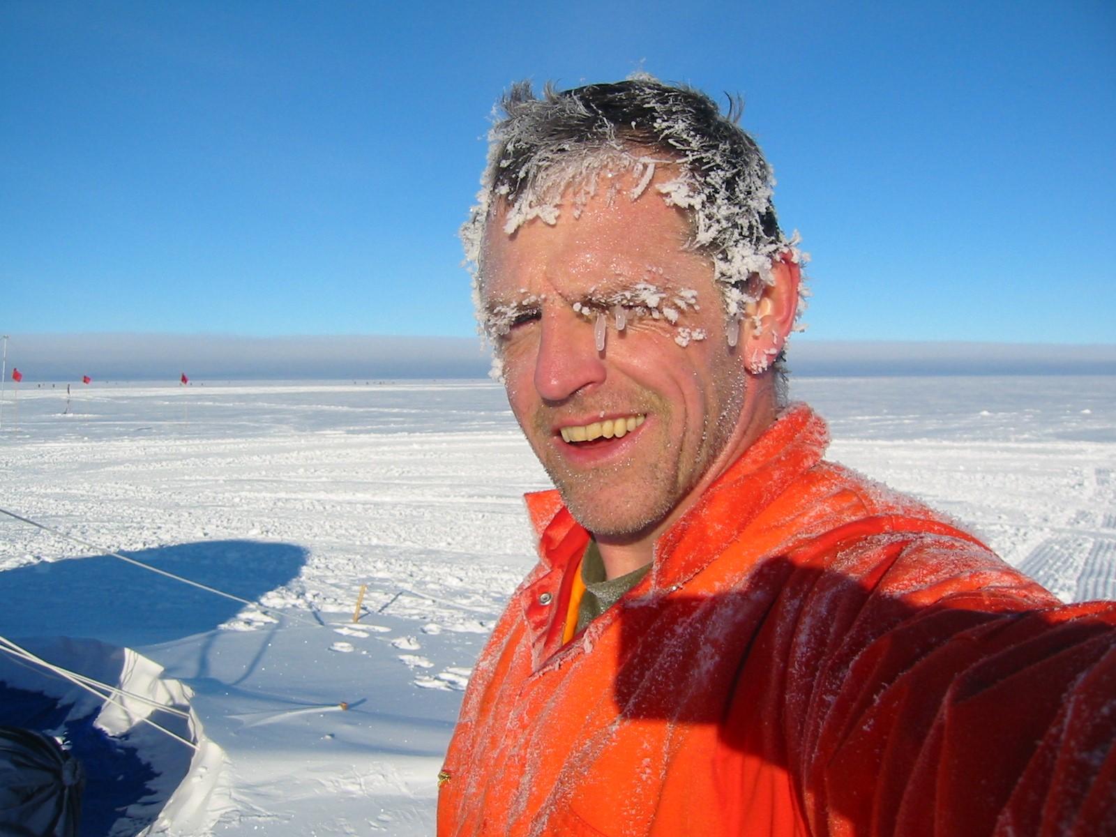 Professor David Vaughan, BAS Director of Science, in Antarctica