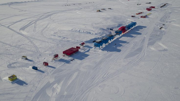 Halley relocation - site 6 from the air (UAV)