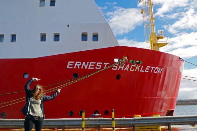 RRS Ernest Shackleton in Stanley, Falkland Islands