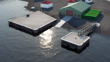 Visualisation of completed KEP Wharf