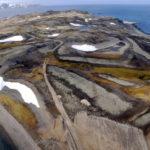 An aerial view of Ardley Island, SOuth Shetland Islands.