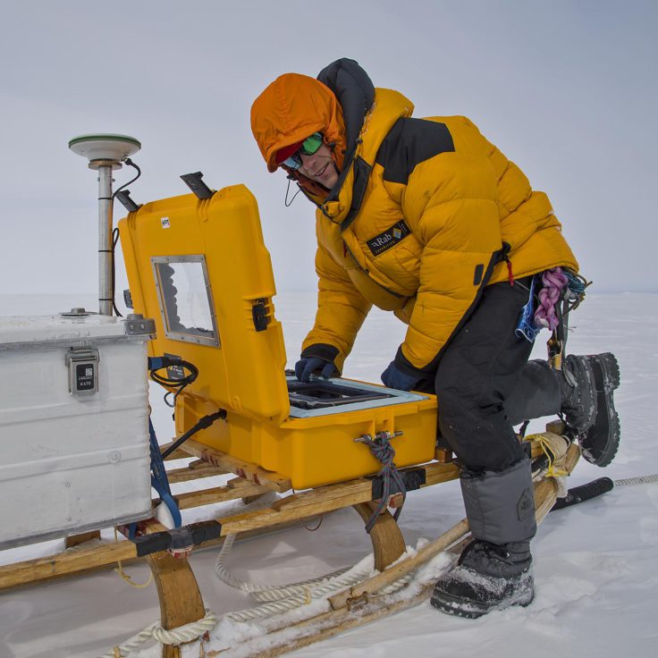 GPR survey on the Brunt Ice Shelf
