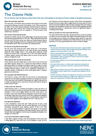 Ozone Hole briefing thumbnail