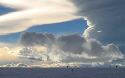 Lenticular clouds over James Ross Island