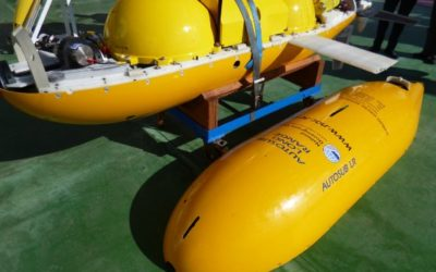 A yellow autonomous submarine