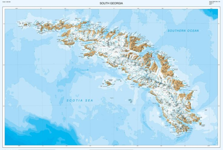 New Map Of South Georgia Unveiled News British Antarctic Survey - South ga map