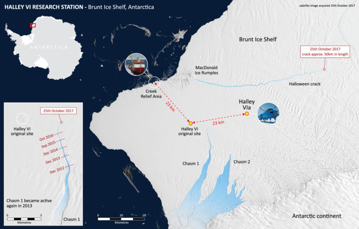 Halley Research Station Will Not Winter In News British - Antarctic research stations map