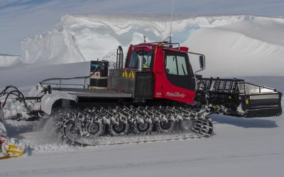 vehicle mechanics work round the clock, maintaining the ice ramp, a critical link between the Station and Ships that bring essential stores and equipment