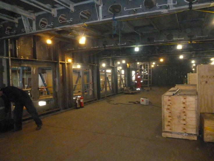 photo of ship interior