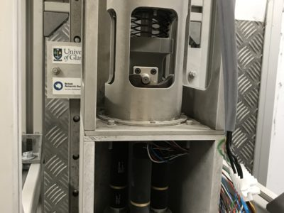 A close up of a refrigerator.