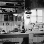 Biological and survey benches, Bransfield House, Port Lockroy, 1st January 1945. (Photographer: E. Mackenzie (I.M. Lamb). Archives ref: AD6/19/1/A106