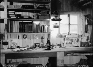 Biological and survey benches, Bransfield House, Port Lockroy, 1st January 1945. Photographer: I M Lamb. Archive ref: AD6/19/1/A106