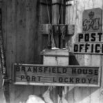 The front door of Bransfield House, Port Lockroy, 27th October 1944. (Photographer: E. Mackenzie (I.M. Lamb). Archives ref: AD6/19/1/A48/2