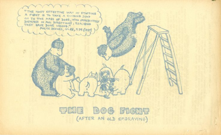 Illustrations from the Hope Bay Howler. (Archives ref: AD7/D/3/1945)