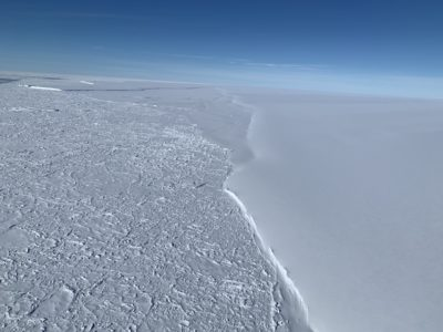 A large snowfield
