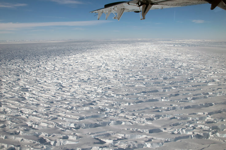 Thwaites Glacier in West Antarctica is extremely remote. Photo credit_NSF
