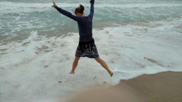 Kaitlin Naughten at the ocean