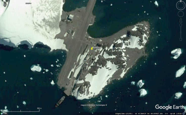 Rothera from space by Google Earth