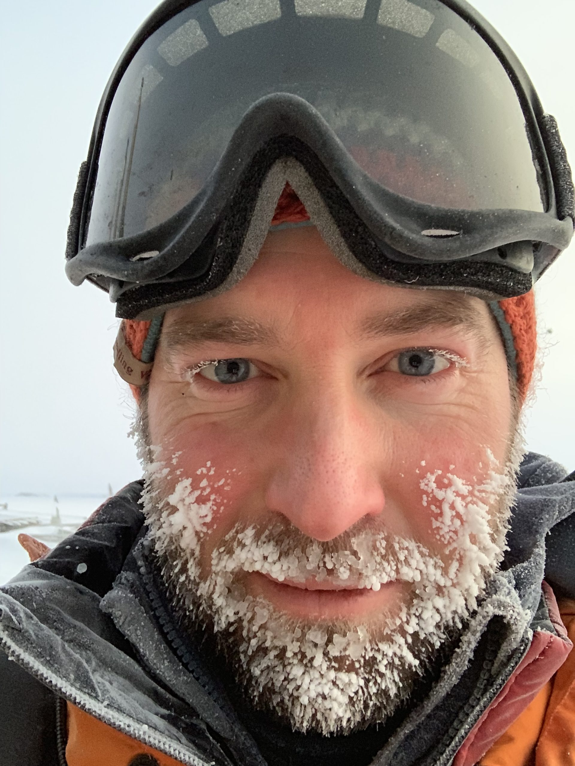 Photo of Matthew Phillips in Antarctica