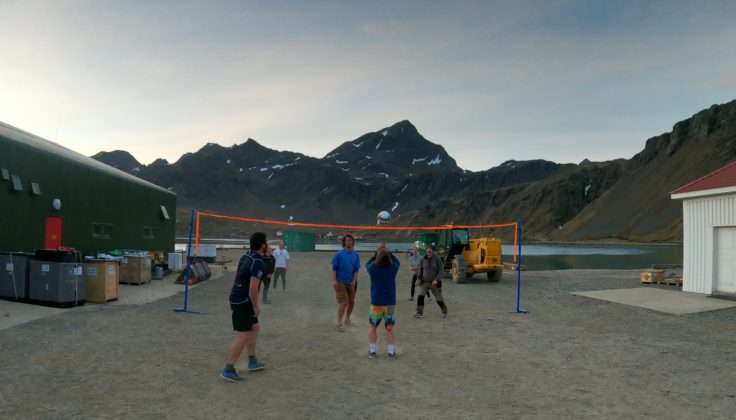 Volleyball playing at King Edward Point