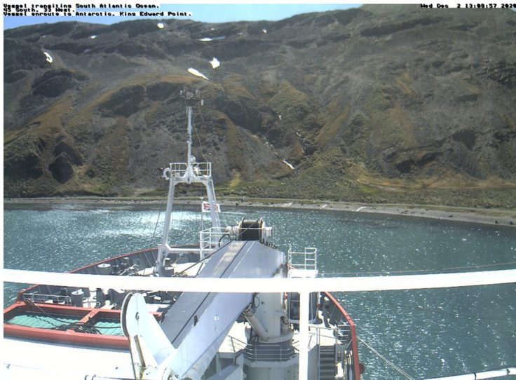 RRS James Clark Ross arrives at King Edward Point