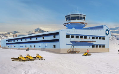 Visualisation of the new Discovery Building at Rothera Research Station